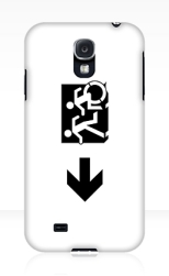 Accessible Exit Sign Project Wheelchair Wheelie Running Man Symbol Means of Egress Icon Disability Emergency Evacuation Fire Safety Samsung Galaxy Case 63