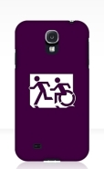 Accessible Exit Sign Project Wheelchair Wheelie Running Man Symbol Means of Egress Icon Disability Emergency Evacuation Fire Safety Samsung Galaxy Case 64
