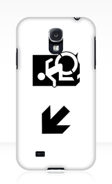 Accessible Exit Sign Project Wheelchair Wheelie Running Man Symbol Means of Egress Icon Disability Emergency Evacuation Fire Safety Samsung Galaxy Case 65