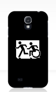 Accessible Exit Sign Project Wheelchair Wheelie Running Man Symbol Means of Egress Icon Disability Emergency Evacuation Fire Safety Samsung Galaxy Case 66