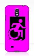 Accessible Exit Sign Project Wheelchair Wheelie Running Man Symbol Means of Egress Icon Disability Emergency Evacuation Fire Safety Samsung Galaxy Case 67