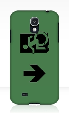 Accessible Exit Sign Project Wheelchair Wheelie Running Man Symbol Means of Egress Icon Disability Emergency Evacuation Fire Safety Samsung Galaxy Case 68