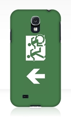 Accessible Exit Sign Project Wheelchair Wheelie Running Man Symbol Means of Egress Icon Disability Emergency Evacuation Fire Safety Samsung Galaxy Case 7