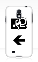 Accessible Exit Sign Project Wheelchair Wheelie Running Man Symbol Means of Egress Icon Disability Emergency Evacuation Fire Safety Samsung Galaxy Case 70