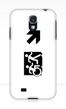 Accessible Exit Sign Project Wheelchair Wheelie Running Man Symbol Means of Egress Icon Disability Emergency Evacuation Fire Safety Samsung Galaxy Case 71