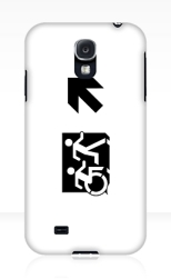 Accessible Exit Sign Project Wheelchair Wheelie Running Man Symbol Means of Egress Icon Disability Emergency Evacuation Fire Safety Samsung Galaxy Case 72