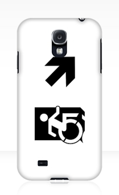 Accessible Exit Sign Project Wheelchair Wheelie Running Man Symbol Means of Egress Icon Disability Emergency Evacuation Fire Safety Samsung Galaxy Case 73