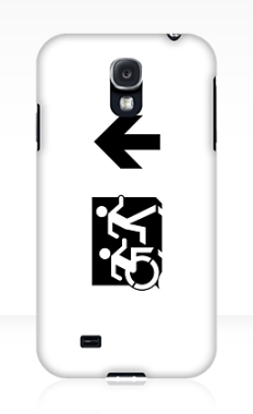 Accessible Exit Sign Project Wheelchair Wheelie Running Man Symbol Means of Egress Icon Disability Emergency Evacuation Fire Safety Samsung Galaxy Case 74