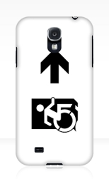 Accessible Exit Sign Project Wheelchair Wheelie Running Man Symbol Means of Egress Icon Disability Emergency Evacuation Fire Safety Samsung Galaxy Case 75