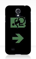 Accessible Exit Sign Project Wheelchair Wheelie Running Man Symbol Means of Egress Icon Disability Emergency Evacuation Fire Safety Samsung Galaxy Case 78