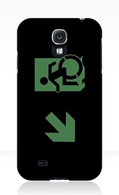 Accessible Exit Sign Project Wheelchair Wheelie Running Man Symbol Means of Egress Icon Disability Emergency Evacuation Fire Safety Samsung Galaxy Case 79