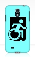 Accessible Exit Sign Project Wheelchair Wheelie Running Man Symbol Means of Egress Icon Disability Emergency Evacuation Fire Safety Samsung Galaxy Case 80