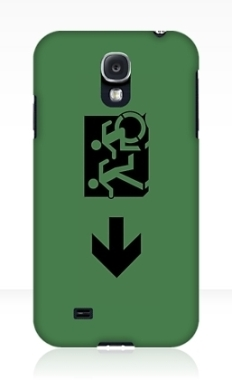 Accessible Exit Sign Project Wheelchair Wheelie Running Man Symbol Means of Egress Icon Disability Emergency Evacuation Fire Safety Samsung Galaxy Case 81