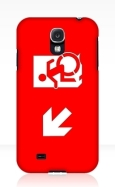 Accessible Exit Sign Project Wheelchair Wheelie Running Man Symbol Means of Egress Icon Disability Emergency Evacuation Fire Safety Samsung Galaxy Case 8