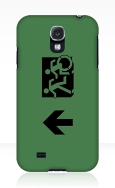 Accessible Exit Sign Project Wheelchair Wheelie Running Man Symbol Means of Egress Icon Disability Emergency Evacuation Fire Safety Samsung Galaxy Case 82