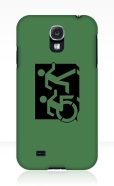Accessible Exit Sign Project Wheelchair Wheelie Running Man Symbol Means of Egress Icon Disability Emergency Evacuation Fire Safety Samsung Galaxy Case 83