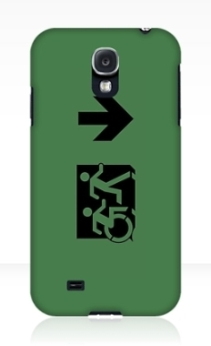 Accessible Exit Sign Project Wheelchair Wheelie Running Man Symbol Means of Egress Icon Disability Emergency Evacuation Fire Safety Samsung Galaxy Case 84