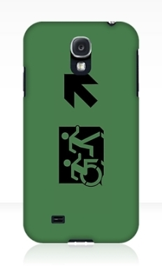 Accessible Exit Sign Project Wheelchair Wheelie Running Man Symbol Means of Egress Icon Disability Emergency Evacuation Fire Safety Samsung Galaxy Case 86