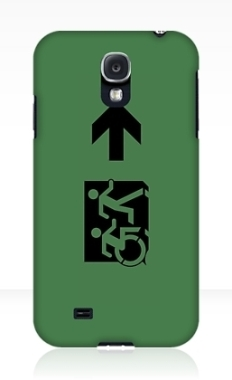 Accessible Exit Sign Project Wheelchair Wheelie Running Man Symbol Means of Egress Icon Disability Emergency Evacuation Fire Safety Samsung Galaxy Case 87