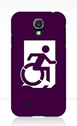 Accessible Exit Sign Project Wheelchair Wheelie Running Man Symbol Means of Egress Icon Disability Emergency Evacuation Fire Safety Samsung Galaxy Case 88