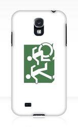 Accessible Exit Sign Project Wheelchair Wheelie Running Man Symbol Means of Egress Icon Disability Emergency Evacuation Fire Safety Samsung Galaxy Case 89