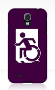 Accessible Exit Sign Project Wheelchair Wheelie Running Man Symbol Means of Egress Icon Disability Emergency Evacuation Fire Safety Samsung Galaxy Case 90