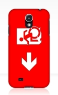 Accessible Exit Sign Project Wheelchair Wheelie Running Man Symbol Means of Egress Icon Disability Emergency Evacuation Fire Safety Samsung Galaxy Case 9