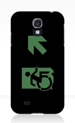 Accessible Exit Sign Project Wheelchair Wheelie Running Man Symbol Means of Egress Icon Disability Emergency Evacuation Fire Safety Samsung Galaxy Case 91