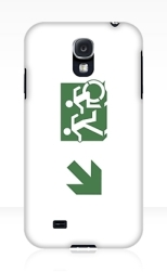 Accessible Exit Sign Project Wheelchair Wheelie Running Man Symbol Means of Egress Icon Disability Emergency Evacuation Fire Safety Samsung Galaxy Case 93