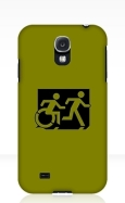 Accessible Exit Sign Project Wheelchair Wheelie Running Man Symbol Means of Egress Icon Disability Emergency Evacuation Fire Safety Samsung Galaxy Case 94