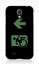 Accessible Exit Sign Project Wheelchair Wheelie Running Man Symbol Means of Egress Icon Disability Emergency Evacuation Fire Safety Samsung Galaxy Case 95