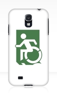 Accessible Exit Sign Project Wheelchair Wheelie Running Man Symbol Means of Egress Icon Disability Emergency Evacuation Fire Safety Samsung Galaxy Case 96