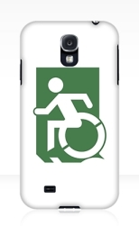 Accessible Exit Sign Project Wheelchair Wheelie Running Man Symbol Means of Egress Icon Disability Emergency Evacuation Fire Safety Samsung Galaxy Case 97