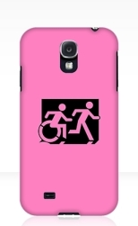Accessible Exit Sign Project Wheelchair Wheelie Running Man Symbol Means of Egress Icon Disability Emergency Evacuation Fire Safety Samsung Galaxy Case 98