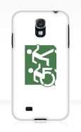 Accessible Exit Sign Project Wheelchair Wheelie Running Man Symbol Means of Egress Icon Disability Emergency Evacuation Fire Safety Samsung Galaxy Case 99