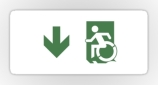 Accessible Exit Sign Project Wheelchair Wheelie Running Man Symbol Means of Egress Icon Disability Emergency Evacuation Fire Safety Sticker 100