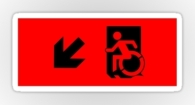 Accessible Exit Sign Project Wheelchair Wheelie Running Man Symbol Means of Egress Icon Disability Emergency Evacuation Fire Safety Sticker 10