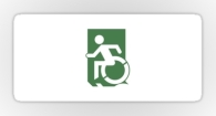 Accessible Exit Sign Project Wheelchair Wheelie Running Man Symbol Means of Egress Icon Disability Emergency Evacuation Fire Safety Sticker 101