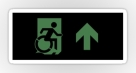 Accessible Exit Sign Project Wheelchair Wheelie Running Man Symbol Means of Egress Icon Disability Emergency Evacuation Fire Safety Sticker 102