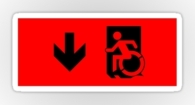 Accessible Exit Sign Project Wheelchair Wheelie Running Man Symbol Means of Egress Icon Disability Emergency Evacuation Fire Safety Sticker 12