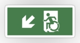 Accessible Exit Sign Project Wheelchair Wheelie Running Man Symbol Means of Egress Icon Disability Emergency Evacuation Fire Safety Sticker 121