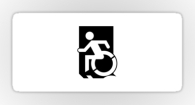 Accessible Exit Sign Project Wheelchair Wheelie Running Man Symbol Means of Egress Icon Disability Emergency Evacuation Fire Safety Sticker 127