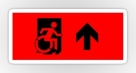 Accessible Exit Sign Project Wheelchair Wheelie Running Man Symbol Means of Egress Icon Disability Emergency Evacuation Fire Safety Sticker 128