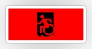 Accessible Exit Sign Project Wheelchair Wheelie Running Man Symbol Means of Egress Icon Disability Emergency Evacuation Fire Safety Sticker 13