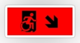 Accessible Exit Sign Project Wheelchair Wheelie Running Man Symbol Means of Egress Icon Disability Emergency Evacuation Fire Safety Sticker 131