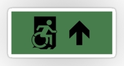 Accessible Exit Sign Project Wheelchair Wheelie Running Man Symbol Means of Egress Icon Disability Emergency Evacuation Fire Safety Sticker 14