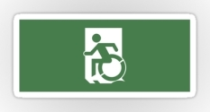 Accessible Exit Sign Project Wheelchair Wheelie Running Man Symbol Means of Egress Icon Disability Emergency Evacuation Fire Safety Sticker 15