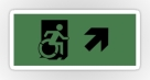 Accessible Exit Sign Project Wheelchair Wheelie Running Man Symbol Means of Egress Icon Disability Emergency Evacuation Fire Safety Sticker 17
