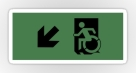 Accessible Exit Sign Project Wheelchair Wheelie Running Man Symbol Means of Egress Icon Disability Emergency Evacuation Fire Safety Sticker 23