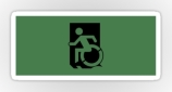 Accessible Exit Sign Project Wheelchair Wheelie Running Man Symbol Means of Egress Icon Disability Emergency Evacuation Fire Safety Sticker 25